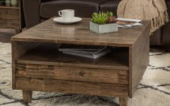 Natural 2-drawer Shutter Coffee Tables
