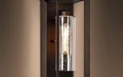 Needham Dark Bronze 17'' H Seeded Glass Outdoor Flush Mount