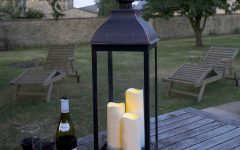 Outdoor Lanterns with Battery Candles