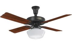 Outdoor Ceiling Fans with Schoolhouse Light