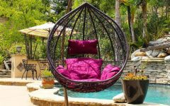 Outdoor Wicker Plastic Tear Porch Swings with Stand