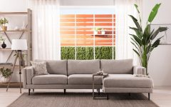 Aquarius Light Grey 2 Piece Sectionals With Laf Chaise