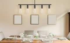 Novogratz Vintage 5-Light Kitchen Island Bulb Pendants