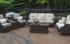 Patio Conversation Sets with Swivel Chairs