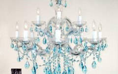Turquoise Crystal Chandelier Lights