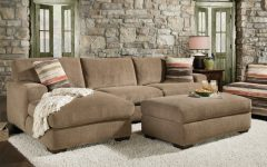 Sofas with Chaise and Ottoman