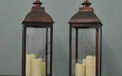 Outdoor Lanterns With Battery Operated Candles