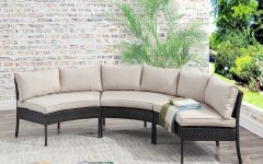 Purington Circular Patio Sectionals with Cushions