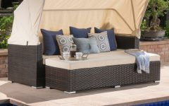 Lammers Outdoor Wicker Daybeds With Cushions