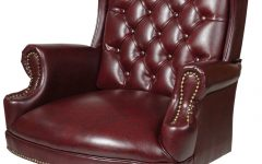 Red Leather Executive Office Chairs