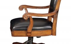 Wood and Leather Executive Office Chairs