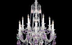 Purple Crystal Chandeliers