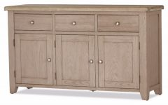 White Wash 3-Door 3-Drawer Sideboards