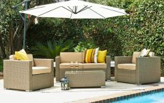 Patio Conversation Sets With Umbrella