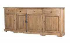 Natural Oak Wood 78 Inch Sideboards
