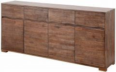 Acacia Wood 4-door Sideboards