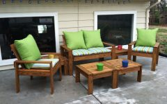 Wood Patio Furniture Conversation Sets