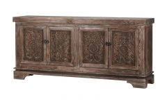 Steinhatchee Reclaimed Pine 4 Door Sideboards