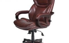 Tan Brown Mid-back Executive Office Chairs