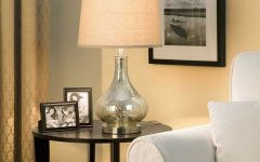 Glass Living Room Table Lamps