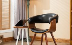 Liston Faux Leather Barrel Chairs