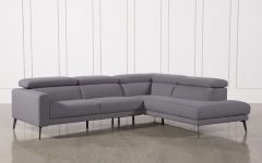 Tatum Dark Grey 2 Piece Sectionals With Raf Chaise