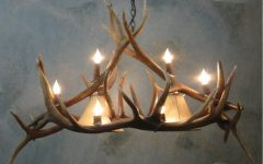 Turquoise Antler Chandeliers