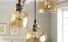 Pruett Cognac 3-Light Cluster Bell Pendants