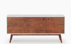 Walnut Finish Contempo Sideboards