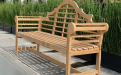Wallie Teak Garden Benches