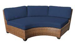 Waterbury Curved Armless Sofa With Cushions