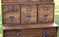 Sawan Finish 4-drawer/4-door Icebox Sideboards