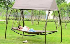 Garden Leisure Outdoor Hammock Patio Canopy Rocking Chairs