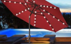 Patio Umbrellas With Solar Lights