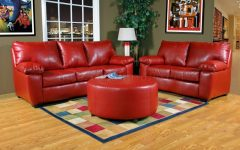 Red Leather Couches and Loveseats
