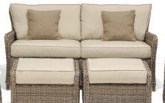 Avadi Outdoor Sofas & Ottomans 3 Piece Set