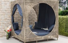Brennon Cube Patio Daybeds with Cushions