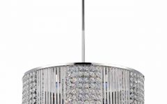 Crystal Chrome Chandelier
