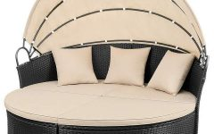 Leiston Round Patio Daybeds with Cushions