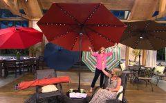 Patio Umbrellas With Solar Led Lights