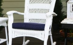 White Wicker Rocking Chairs