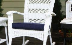 White Wicker Rocking Chairs
