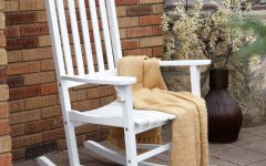 White Patio Rocking Chairs