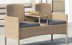 Wicker Tete-a-tete Benches