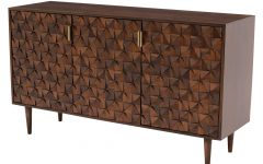 Walnut Finish 2-Door/3-Drawer Sideboards